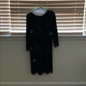 Beautiful Black Silk Argenti Dress Size 4